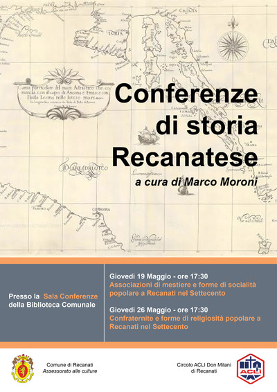 Locandina conferenze Recanati del settecento