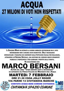 Incontro pubblico con Marco Bersani Martedì 7 febbraio a Civitanova Marche.
