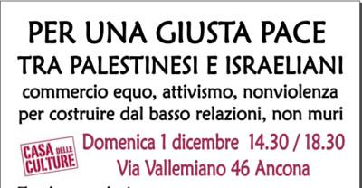 Una Tavola rotonda per una giusta pace tra Palestinesi ed Isdraeliani