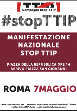 7 Maggio Manifestazione Stop TTIP  a Roma